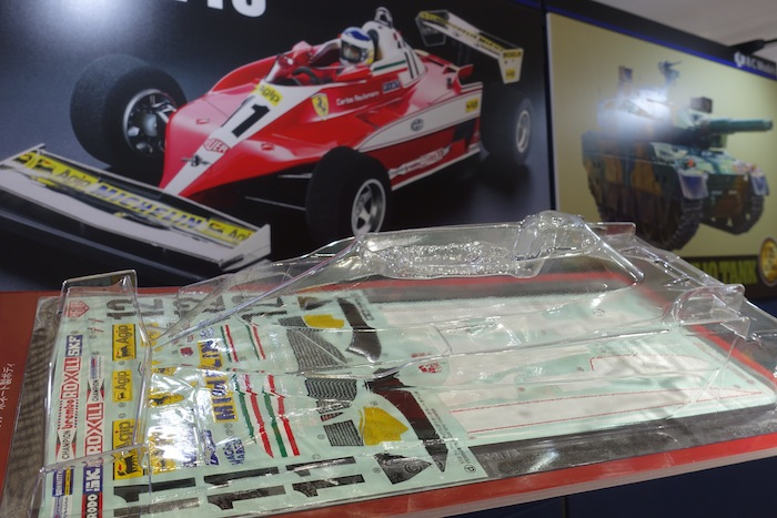 Tamiya Ferrari 312T3 con telaio F104W tokyo hobby show booth 2018