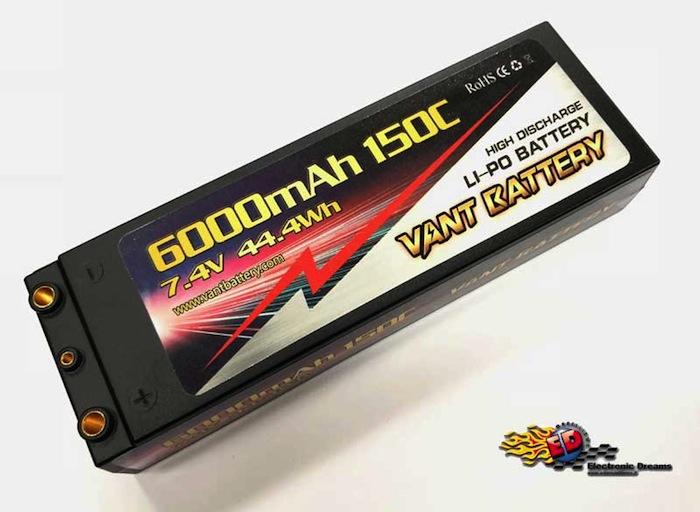 VANT: Batteria LiPo 7,4v 6000mha 150C Hard Case