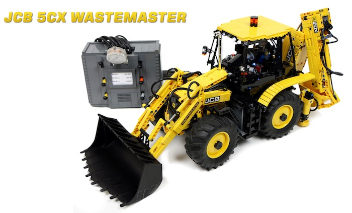 Lego Technic RC JCB 5CX Wastemaster Backhoe Loader