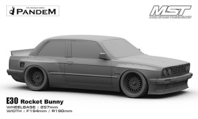 MST E30 Rocket Bunny: Carrozzeria da Drift 1/10