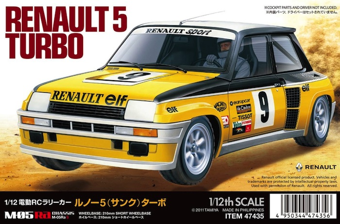 Tamiya: Renault 5 Turbo Rally - 1/12 scale Kit