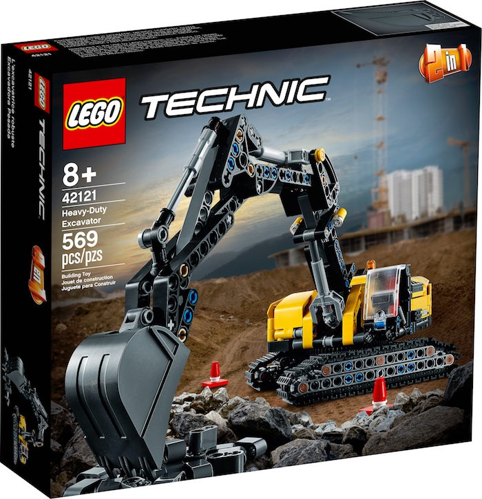LEGO TECHNIC ESCAVATORE PESANTE 42121 box