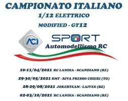 Campionato Italiano Automodellismo elettrico 2021:  on-road in scala 1/10 e 1/12