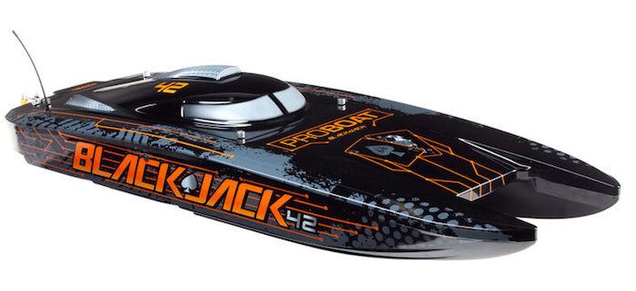 "ProBoat- Blackjack 42"" 8S Brushless Catamaran RTR 1"