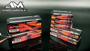 Arrowmax - New Red Silicon Graphene LiPo packs