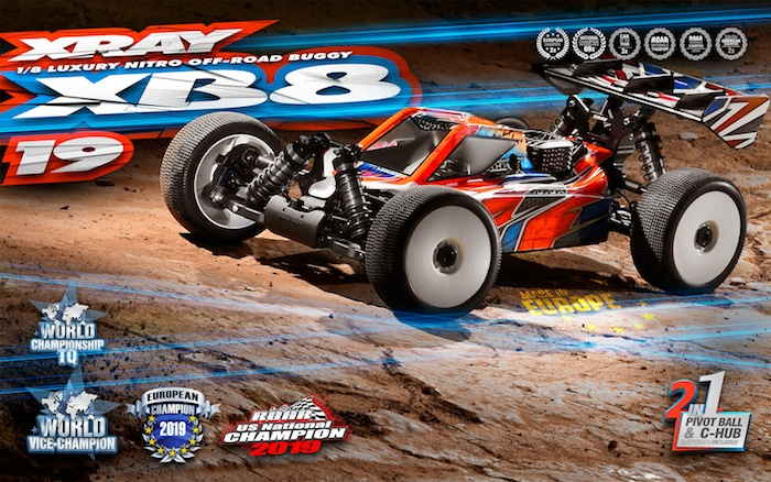 XRAY: XB8 2019 nitro buggy kit
