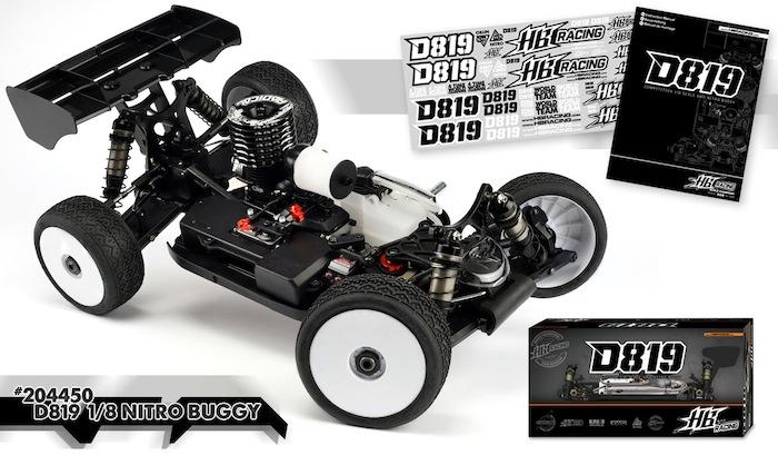 HB Racing: D819 1/8 nitro buggy