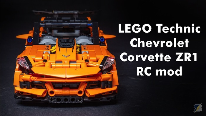 LEGO Technic: Chevrolet Corvette ZR1 RC mod with BuWizz