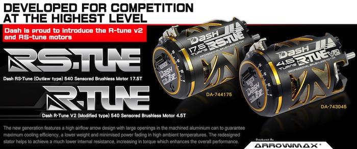 Dash: R-Tune V3 modified brushless motor