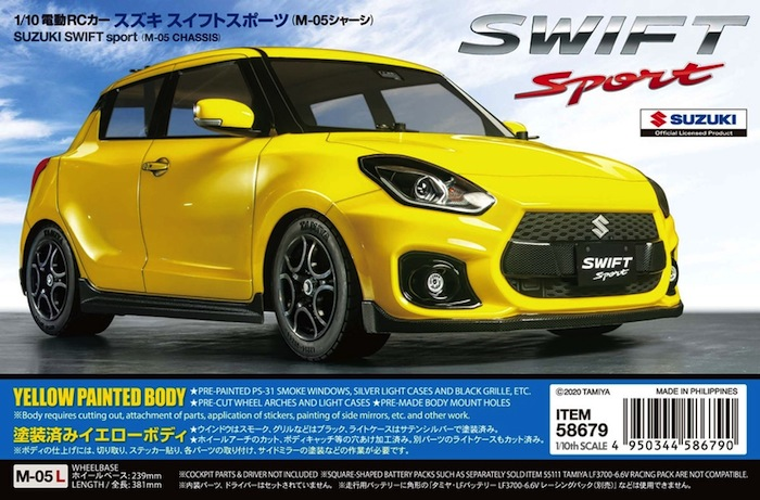 Tamiya - Suzuki Swift Sport M05 Kit
