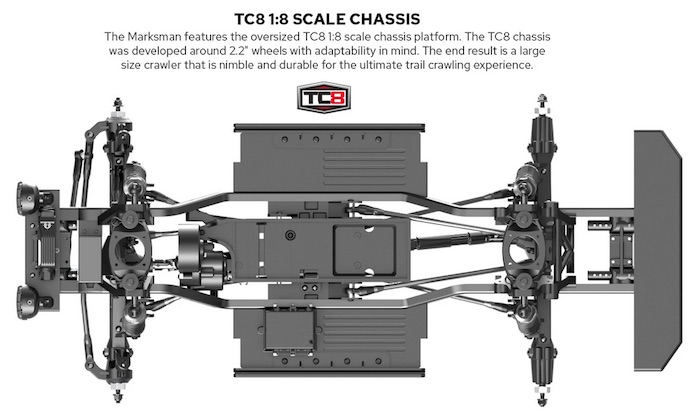 Redcat TC8 Marksman - Brushed Electric Trail Crawler chassis