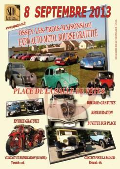 Affiche Expo Auto-Moto Ossey le 8 septembre 2013