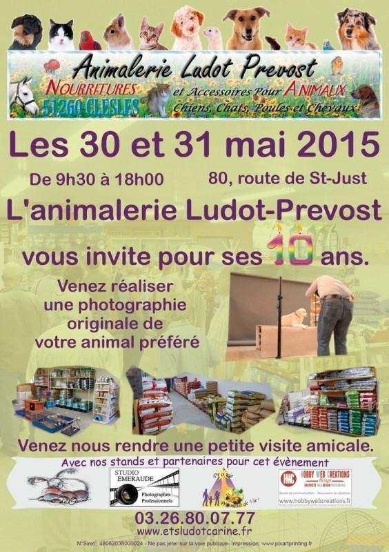 Flyer Anniversaire Animalerie Ludot-Prevost 10 ans
