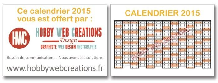 Calendrier 2015 format poche