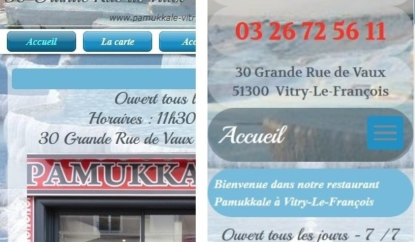 Evolution du site Pamukkale-Vitry