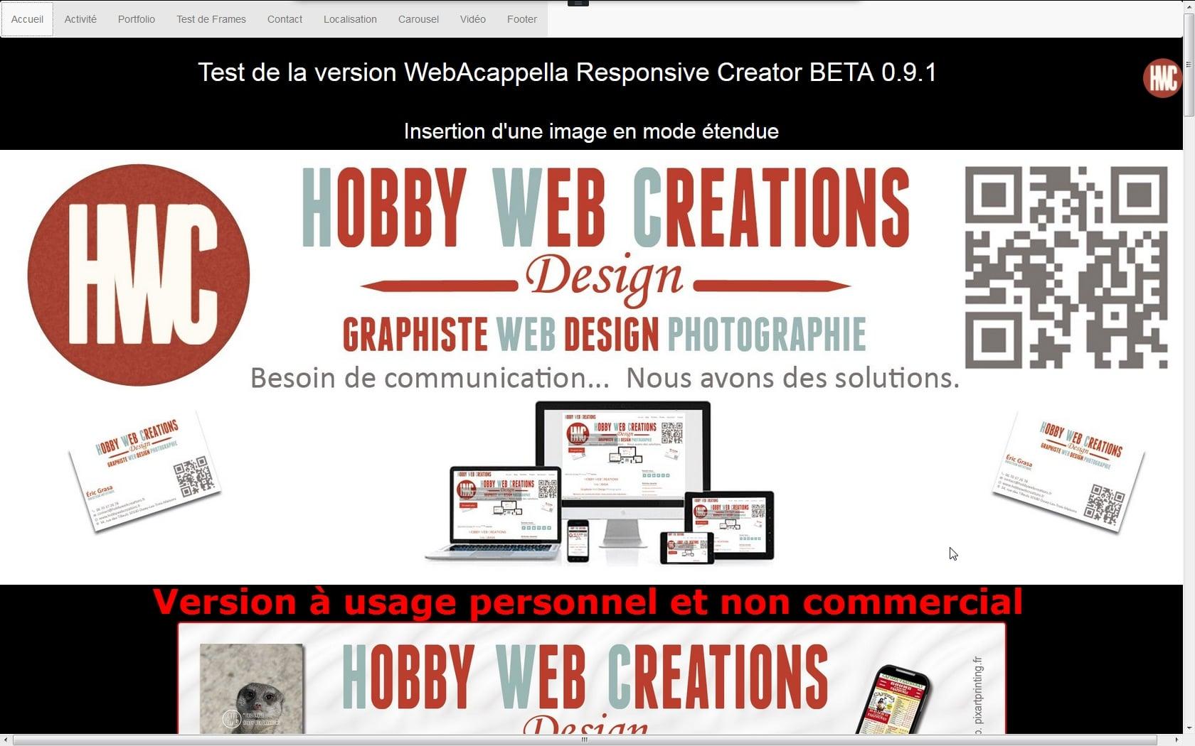 Webacappella responsive creator beta 0 9 1 1 hwc for Copie ecran