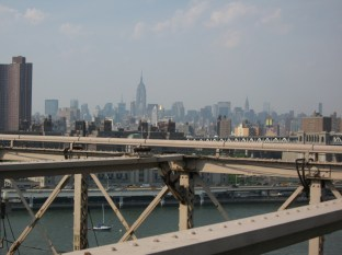 The amazing view of Midtown from the Bridge