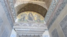 A mosaic of the Holy Trinity dating from the 9th century