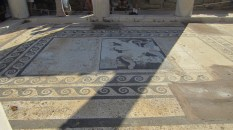 In one of the ancient shops - this mosaic is a replica
