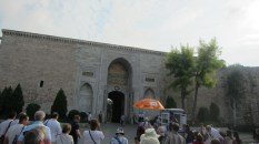The entrance to Topkapi palace