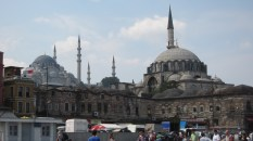 That big mosque in the distance is the Blue Mosque, one of the more famous
