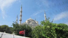 A view of the Blue Mosque while heading to lunch