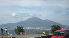 But when Vesuvius erupted, half the mountain exploded. You can see that here.