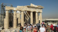 Looking back towards the entryway to the Acropolis