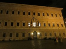 The French Embassy in the Piazza Farnese, which has a Michaelangelo-designed facade