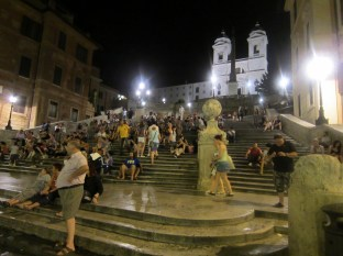 After a nice little distance, we finally got to the endpoint of the walking tour: the Spanish Steps