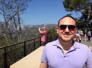 There's me with the Hollywood sign