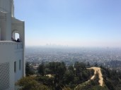 Hazy downtown Los Angeles