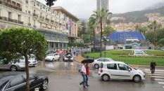 The plaza outside the casino