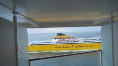 We actually got passed by this ferry