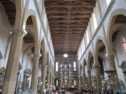Inside Sante Croce - it's pretty immense inside