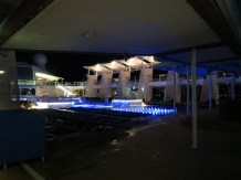Nighttime at the pool deck