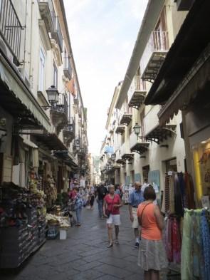 The main pedestrian walking shopping street