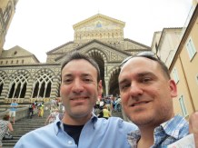 Larry & Me at the Amalfi Cathedral