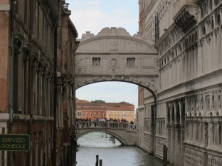 The back of the Bridge of Sighs