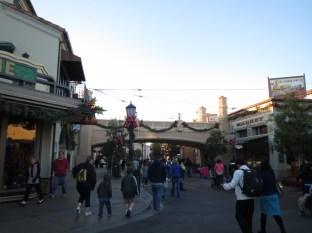 The main strip through California Adventure