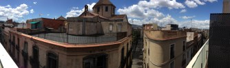 The panoramic view from our penthouse room