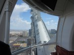 Nearing the apex of the observation wheel's course