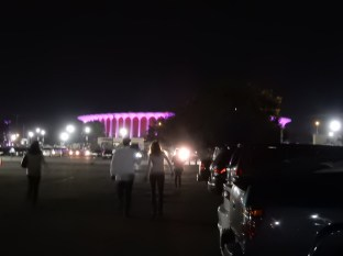 Heading to the Forum from our parking spot