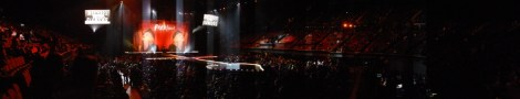 Panoramic view from our seats