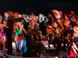 It's blurry, but the dancers caught them