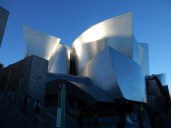 The neighboring Walt Disney Music Hall by Frank Gehry