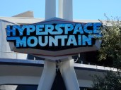 and the new sign for HYPERspace Mountain