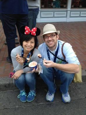 Su & Rich during ice cream break