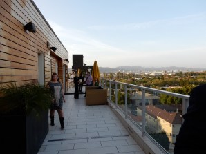 The Hotel Wilshire roofdeck had an amazing vantage of the city