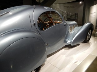 On the first floor were a bunch of great concept old-school Bugatti cars